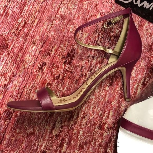 041647cef917 NIB Sam Edelman Patti cranberry lea 9 heel